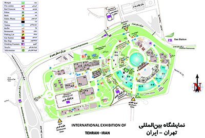 Map of International Exhibition of Tehran